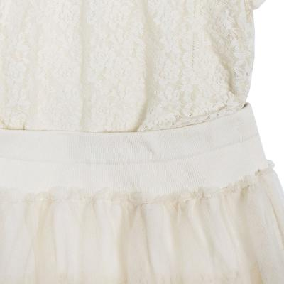 lace sleeveless t-shirts & cancan mini skirt